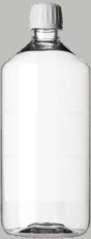Flacon PET de 1 Litre rigide rond